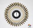 Đồng hồ treo tường vòng xoáy nghệ thuật vàng